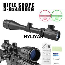 3-9x4AOEG Red/Green Dot Reflex Sight Rifle Scope Telescopic Illuminated Reticle