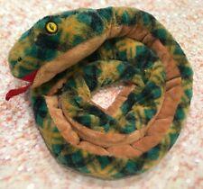 Wishpets Wish Pets 2006 Macewan Snake Plush Stuffed Animal Green Brown 60�