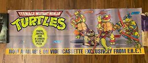 Vintage 1987/88 Teenage Mutant Ninja Turtles VHS Playmates Store Display Poster