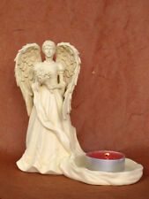 Engel Figur Kerzenständer Teelichhalter Geburt Taufe Grabschmuck - 20028