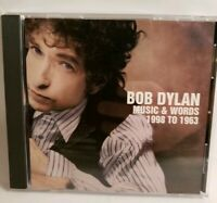 "BOB DYLAN ""MUSIC AND WORDS 1998 TO 1963"" 1CD SONY PROMO 16-TRACK COMPILATION"