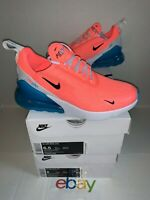 New Nike Air Max 270 Lava Glow Blue Women's Size 6-6.5 Running Shoes CI5856-600