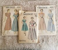 Vintage Tailored Dresses Sewing Pattern Advance Size 14 Dresses