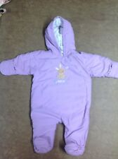 EASTER Carters Child Of Mine BABY GIRL'S LAVENDER 'BUNNY LOVE' SNOWSUIT SIZE M