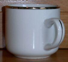 Coffee Cup Gibson 12oz. Cup Gold Color Rim Gibson Coffee Mug