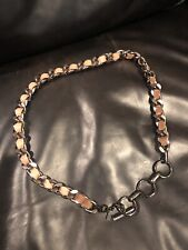 YSL Women's Chain And Leather Belt