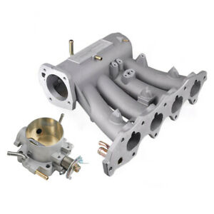 Intake Manifold For EG EK DA DC2 B16A B16B B17A1 B18C5 With 70mm Throttle Body