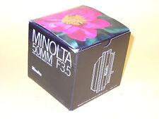 Minolta Auto Bellows Macro Rokkor 50mm 1:3,5 MDII in MINT condition!