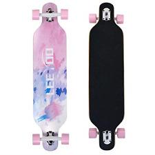 Longboard Skateboard 41 Inch Longboard for Girls 8 Layer Natural Maple Complete