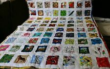 Girl Boy Handmade Handcrafted pieced I Spy Multi Pictures Baby Crib Throw Quilt