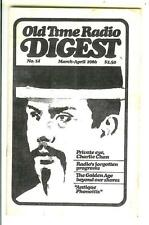 OLD TIME RADIO DIGEST #14, 1986, rare US digest mag Charlie Chan