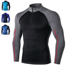 Men's Sports Compression Base Layer Slim Fit Tops Long Sleeve Quick Dry T-Shirt