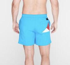 Tommy Hilfiger Mens Turquoise Solid Flag Swim Shorts Size Medium RRP £45