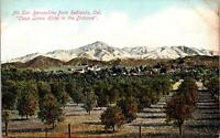 Mt San Bernadino from Redlands CA Casa Loma Hotel Postcard unused 1900s/10s