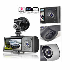 "2.7"" LCD 1080P Dual Lens Car DVR Digital Video Recorder GPS Logger Dash Cam R300"