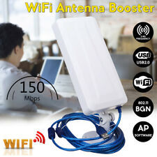 Long Range WiFi Extender Wireless Outdoor Router Repeater Antenna Booster WLAN