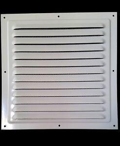 250x250mm METAL Lüftungsgitter Weiß +INSEKTENNETZ Ventilation Gitter Entlüftung