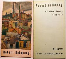 BERGGRUEN/CATALOGUE/R.DELAUNAY/1961/TEXTE DE J.CASSOU/ORPHISME/RARE