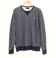 FRED PERRY Crew Neck Cotton Jumper Sweatshirt Men Size L