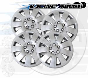"Wheel Cover Replacement Hubcaps 14"" Inch Metallic Silver Hub Cap 4pcs Set #721"