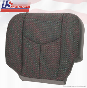 2005 2006 2007 Chevy Silverado 3500 Passenger Bottom Cloth Seat Cover Dark Gray