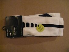Nike Elite Cushioned Crew Basketball Socks - SX5593-100 - Large White/Black