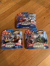 New listing Marvel Superhero Squad 2009 Action Figure Lot Of 3 Nib Spider-Man Wolverine Etc.
