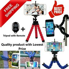 Universal Mobile Phone Tripod Stand Grip Holder Mount For Camera Phones + Remote
