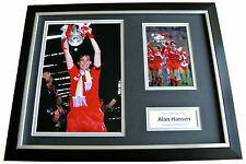 ALAN HANSEN Signed FRAMED Photo Autograph 16x12 Display LIVERPOOL Football & COA