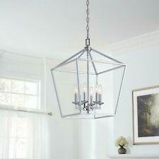 Home Decorators Weyburn 6-Light Polished Chrome Caged Chandelier CP 66201