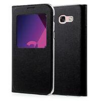 """Etui View Case Flip Folio Leather Cover NOIR pour Samsung Galaxy A3 (2017) 4.7"""""""