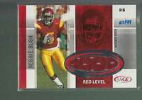 2006 SAGE RED LEVEL USC GAME JERSEY REGGIE BUSH RC 67/99 USC SAINTS