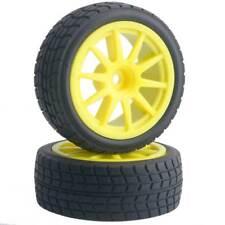 RC 910Y-8005 Rubber Tires & Wheel Plastic 4Pcs For HSP HPI 1/10 On-Road Car