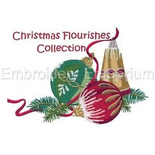 Christmas Flourishes Collection - Machine Embroidery Designs On Cd Or Usb