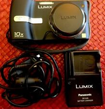 Panasonic LUMIX DMC-TZ1 5.0MP Digital Camera-Black,WORKS,EXCELLENT,charger,case