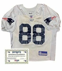 #88 Practice Worn New England Patriots NFL Jersey COA Like Game Used Worn