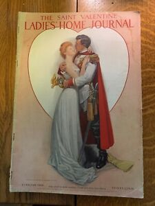 LADIES HOME JOURNAL Magazine  February 1908  Frank Guild Cov   Cream of Wheat ad