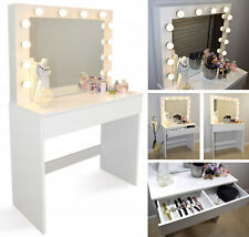 WestWood Dressing Table Set Drawers Mirror Jewelry Makeup Desk Wood