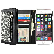 For Apple iPhone 7 / 7 Plus Leather Animal Print Flip Wallet Stand Case Cover