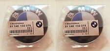 2pcs 82mm BMW emblem SET Blue/White Emblem Logo For BMW e60 e90 e46 e61 e39 OEM