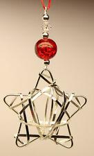 Handmade Christmas Tree Ornament Decoration Silver STAR made with Swarovski