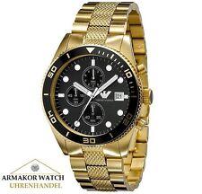 NEU&OVP EMPORIO ARMANI AR5857 Herren Uhr Chronograph PVD Gold UVP 469,00 €