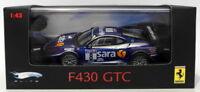 Hot Wheels 1/43 Scale Diecast P9950 - Ferrari F430 GTC #8 - Blue