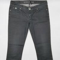 Guess Starlet Straight Leg W29 L32 grau Damen Designer Denim Jeans Hose Vintage