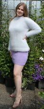 Angora sweater Pullover silber , Rock skirt flieder lilac soft & fuzzy