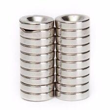 20pcs Set 12mm*3mm N50 Countersunk Ring Magnets Rare Earth Neodymium Hole 4mm