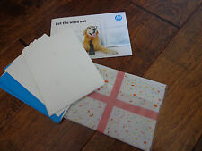 New Two Smiles by Hp gift card printing w/blank cards (15) w/envelopes (5)