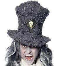 Halloween Fancy Dress Mens Gravedigger Digger Top Hat Grey New by Smiffys