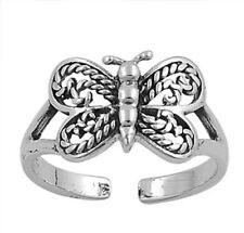Adjustable Butterfly Toe Ring Sterling Silver 925 Best Choice Jewelry USA Seller