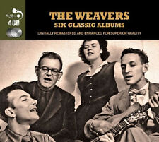 Weavers SIX (6) CLASSIC ALBUMS Folk Songs Around The World ALMANAC New 4 CD
